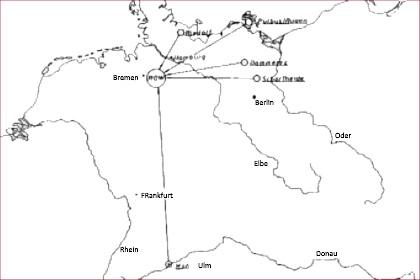 Figuur 1: Ligging onderzoeksgebieden in Niedersachsen