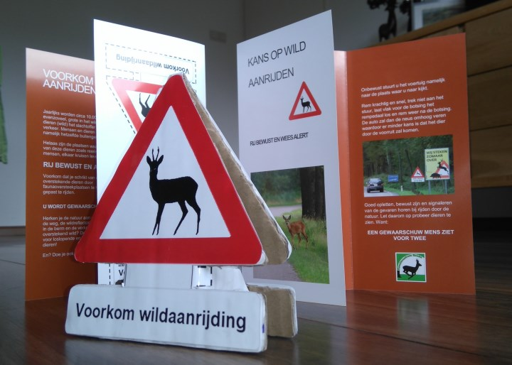 Foto: onderdelen Eenvoudig wildwaarschuwingssysteem