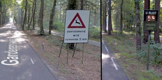 Afbeelding: Wildwaarschuwing en interactieve snelheidsreminder