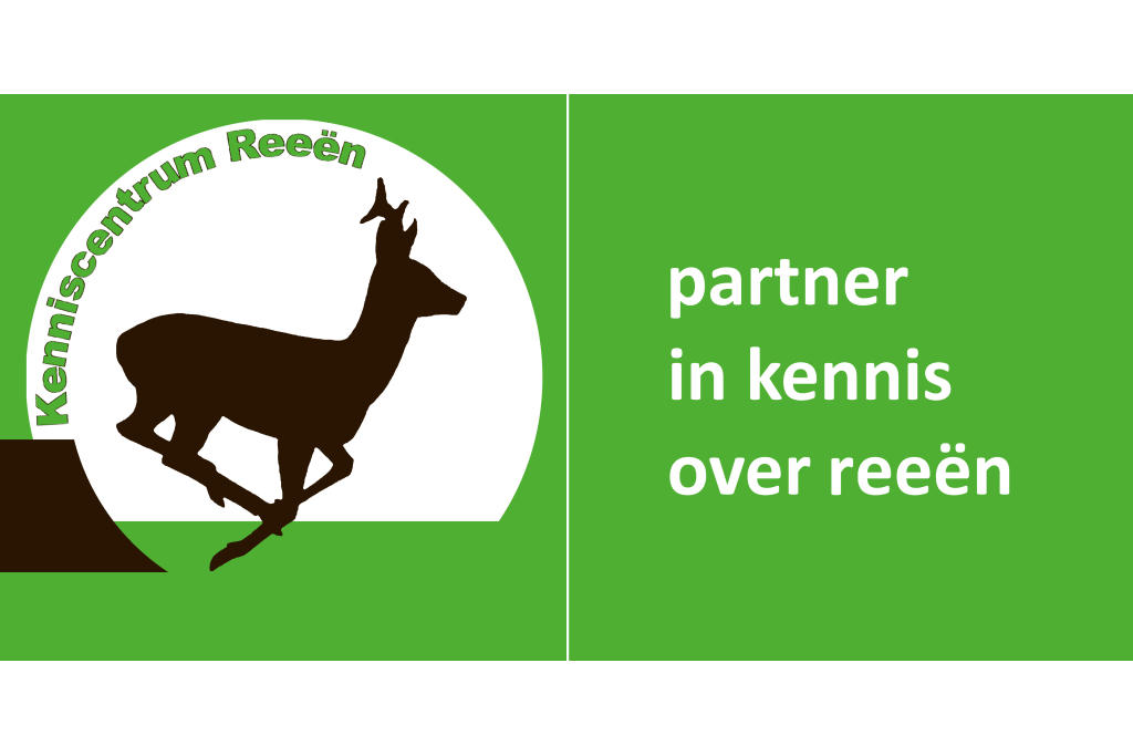 Banner: Kenniscentrum Reeën - Partner in kennis over reeën